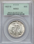 Walking Liberty Half Dollars: , 1937-S 50C MS62 PCGS. PCGS Population (72/2198). NGC Census:(37/1066). Mintage: 2,090,000. Numismedia Wsl. Price for probl...