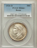 Commemorative Silver: , 1936-D 50C Boone MS66+ PCGS. PCGS Population (253/24). NGC Census:(204/9). Mintage: 5,005. Numismedia Wsl. Price for probl...
