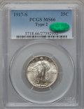 Standing Liberty Quarters, 1917-S 25C Type Two MS66 PCGS. CAC....