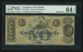 Obsoletes By State:Louisiana, New Orleans, LA- New Orleans Canal & Banking Co. $50 Remainder G44a. ...