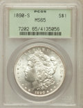 Morgan Dollars: , 1890-S $1 MS65 PCGS. PCGS Population (661/141). NGC Census:(369/51). Mintage: 8,230,373. Numismedia Wsl. Price for problem...