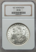 Morgan Dollars, 1921 $1 MS66 NGC....