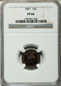 Proof Barber Dimes, 1897 10C PR66 NGC....