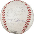 Baseball Collectibles:Balls, 1965 Milwaukee Braves Team Signed Baseball. ...