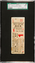 Baseball Collectibles:Tickets, 1915 World Series Game One Full Ticket--Babe Ruth's First W.S.Game!...