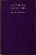 Books:Photography, [Photography] Paul Martin. Victorian Snapshots. Country Life Ltd., 1939. First edition. Illustrated. Publisher's...