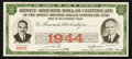 Miscellaneous:Other, Dewey-Bricker Dollar Certificate 1944.. ...
