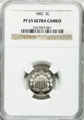 Proof Shield Nickels, 1882 5C PR65 Ultra Cameo NGC....