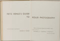 Books:Photography, [Photography] George B. Wright, editor. Fritz Henle's Guide to Rollei Photography. Studio Publications, 1956. Fi...