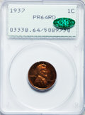 Proof Lincoln Cents: , 1937 1C PR64 Red PCGS. CAC. PCGS Population (598/581). NGC Census:(192/260). Mintage: 9,320. Numismedia Wsl. Price for pro...