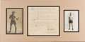 Boxing Collectibles:Memorabilia, 1908 Fred Welsh vs. Johnny Murphy Fight Contract, Signed by Welsh....