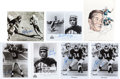 Football Collectibles:Photos, Football Greats and Hall of Famers Signed Photographs and Memorabilia Lot of 65+....