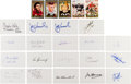 Football Collectibles:Others, Heisman Trophy Winners Signed Index Cards and Trading Cards Lot of 148....