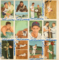 Autographs:Sports Cards, 1959 Fleer Ted Williams Uncut Sheet Signed Twelve Times....