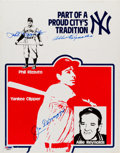 Autographs:Others, 1980's New York Yankees Legends Signed Cardboard Standee....
