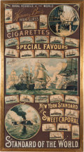 "Non-Sport Cards:Other, 1888 G93 Kinney ""Naval Vessels of the World"" Tobacco AdvertisingBanner. ..."