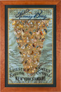"""Non-Sport Cards:Other, 1888 G97 Kinney """"Butterflies of the World"""" Tobacco AdvertisingBanner. ..."""