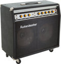 Musical Instruments:Amplifiers, PA, & Effects, Circa 1980 Rickenbacker TR-100GT Black Guitar Amplifier, Serial #009111....