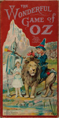 """Books:Children's Books, Parker Brothers Wonderful Game of Oz Board Game. ParkerBrothers, 1921. 19"""" x 19"""". Color lithograph mounted to c..."""