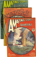 Pulps:Science Fiction, Amazing Stories (pulp) Group (Ziff-Davis, 1928-43) Condition:Average VG+. This lot consists of the issues dated August 1930...(Total: 41 Items)