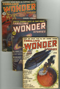 Pulps:Science Fiction, Thrilling Wonder Stories (pulp) Group (Standard, 1938-40). This lotconsists of the issues dated February 1938 (VG/FN), Febr... (Total:5 Items)