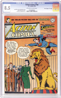 """Action Comics #166 Davis Crippen (""""D"""" Copy) pedigree (DC, 1952) CGC VF+ 8.5 Off-white to white pages. This iss..."""