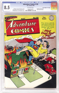 """Adventure Comics #128 Davis Crippen (""""D"""" Copy) pedigree (DC, 1948) CGC VF+ 8.5 Off-white pages. This is the on..."""