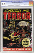 """Golden Age (1938-1955):Horror, Adventures Into Terror #43 (#1) Davis Crippen (""""D"""" Copy) pedigree(Atlas, 1950) CGC VF- 7.5 Off-white to white pages. Keepin..."""