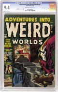 "Golden Age (1938-1955):Horror, Adventures Into Weird Worlds #5 Davis Crippen (""D"" Copy) pedigree(Atlas, 1952) CGC NM 9.4 Off-white to white pages. A shamb..."