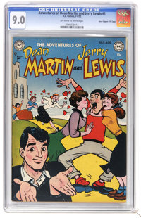 """Adventures of Dean Martin and Jerry Lewis #1 Davis Crippen (""""D"""" Copy) pedigree (DC, 1952) CGC VF/NM 9.0 Off-wh..."""