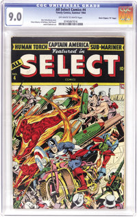 "All Select Comics #4 Davis Crippen (""D"" Copy) pedigree (Timely, 1944) CGC VF/NM 9.0 Off-white to white pages..."