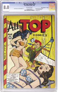 """All Top Comics #10 Davis Crippen (""""D"""" Copy) pedigree (Fox Features Syndicate, 1948) CGC VF 8.0 Off-white pages..."""