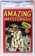 "Golden Age (1938-1955):Horror, Amazing Mysteries #32 Davis Crippen (""D"" Copy) pedigree (Marvel,1949) CGC VF/NM 9.0 White pages. Considered the first Marve..."