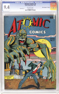 "Golden Age (1938-1955):Horror, Atomic Comics #2 Davis Crippen (""D"" Copy) pedigree (Green Publishing Co., 1946) CGC NM 9.4 Off-white pages. Though a number ..."