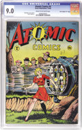 """Golden Age (1938-1955):Miscellaneous, Atomic Comics #4 Davis Crippen (""""D"""" Copy) pedigree (Green Publishing Co., 1946) CGC VF/NM 9.0 Cream to off-white pages. The ..."""