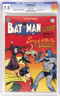 Golden Age (1938-1955):Superhero, Batman #62 (DC, 1950) CGC VF- 7.5 Off-white pages. The origin of Catwoman is told here, and we believe this to be the first ...