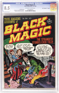 "Golden Age (1938-1955):Horror, Black Magic #1 Davis Crippen (""D"" Copy) pedigree (Prize, 1950) CGCVF+ 8.5 Off-white pages. It's the black cover, not th..."