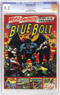 """Golden Age (1938-1955):Science Fiction, Blue Bolt #110 Davis Crippen (""""D"""" Copy) pedigree (StarPublications, 1951) CGC NM- 9.2 Off-white to white pages. The onlyco..."""