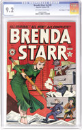 """Golden Age (1938-1955):Crime, Brenda Starr V2#9 Davis Crippen (""""D"""" Copy) pedigree (Superior, 1949) CGC NM- 9.2 Off-white to white pages. It appears that J..."""