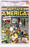 Golden Age (1938-1955):Superhero, Captain America Comics #1 (Timely, 1941) CGC Apparent VG/FN 5.0 Extensive (P) Off-white pages. One of the great comic book c...