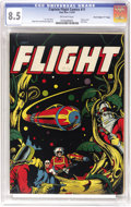 """Golden Age (1938-1955):Science Fiction, Captain Flight #11 Davis Crippen (""""D"""" Copy) pedigree (Four Star,1947) CGC VF+ 8.5 Off-white pages. Overstreet and Gerber ag..."""