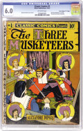 "Golden Age (1938-1955):Classics Illustrated, Classic Comics #1 The Three Musketeers - Davis Crippen (""D"" Copy)pedigree (Elliott, 1941) CGC FN 6.0 Off-white pages. The f..."