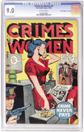 """Golden Age (1938-1955):Crime, Crimes by Women #9 Davis Crippen (""""D"""" Copy) pedigree (Fox Features Syndicate, 1949) CGC VF/NM 9.0 Off-white pages. """"Full of ..."""