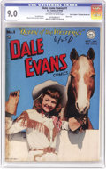 "Golden Age (1938-1955):Western, Dale Evans Comics #1 Double Cover - Davis Crippen (""D"" Copy)pedigree (DC, 1948) CGC VF/NM 9.0 Off-white to white pages. Dal..."