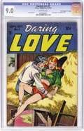 "Golden Age (1938-1955):Romance, Daring Love #1 Davis Crippen (""D"" Copy) pedigree (Gillmor, 1953)CGC VF/NM 9.0 Off-white pages. Steve Ditko's first publis..."