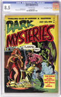 "Golden Age (1938-1955):Horror, Dark Mysteries #1 Davis Crippen (""D"" Copy) pedigree (MasterPublications, 1951) CGC VF+ 8.5 Off-white pages. Wally Wood's co..."