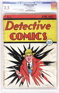 Platinum Age (1897-1937):Miscellaneous, Detective Comics #4 (DC, 1937) CGC VG- 3.5 Cream to off-white pages. You could definitely call this a tough find in any grad...
