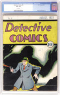 Platinum Age (1897-1937):Miscellaneous, Detective Comics #6 (DC, 1937) CGC VG+ 4.5 Cream pages. Here's thesixth issue of the series that later gave the company its...