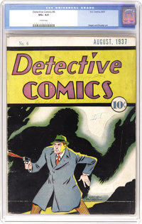 Detective Comics #6 (DC, 1937) CGC VG+ 4.5 Cream pages. Here's the sixth issue of the series that later gave the company...
