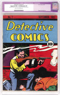 Platinum Age (1897-1937):Miscellaneous, Detective Comics #7 (DC, 1937) CGC Apparent VG+ 4.5 Extensive (P) Light tan to off-white pages. Not many copies of this issu...